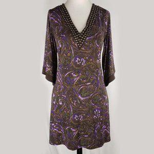 Michael Kors brown studded tunic dress, M
